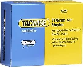 Tacwise 0367 Grapas galvanizadas de tipo 71//6 mm Set de 20000 Piezas