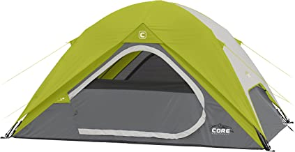 CORE Equipment 4 Person Instant Dome Tent - 9' x 7', Green