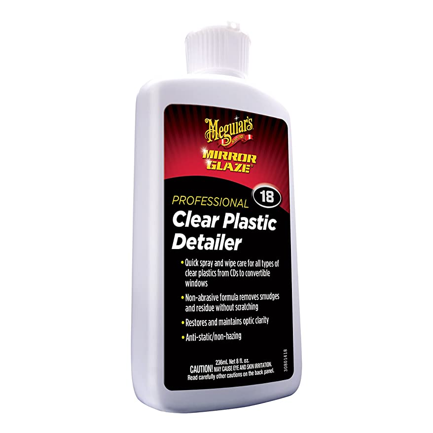 アスレチック忌避剤逆さまにMeguiars MEGM1808 Clear Plastic Cleaner-Polish