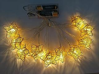 10 Led Led Star LED String Nursery Lights Decorative Curtain Lamp for Kids Room, Birthday Party, Wedding,Ramadan, Garden E...