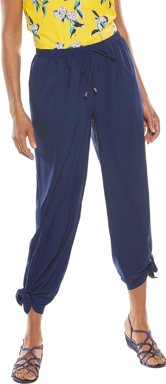 Coolibar UPF 50+ Women's Petra Wide Leg Pant  Sun Predective (XLarge Royal Navy)