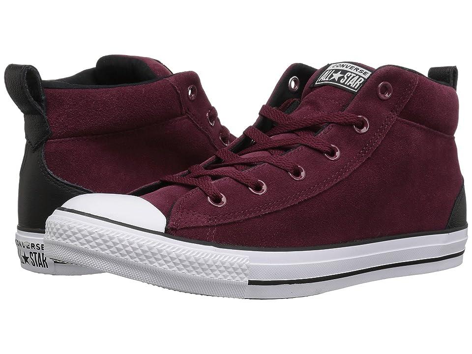 Converse Chuck Taylor All Star Street Letterman Jacket Mid (Dark Burgundy/Black/White) Shoes