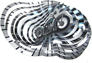 WorldaWhirl Whirligig 3D Wind Spinner Hand Paint Stainless Steel Motorcycle Bike (12