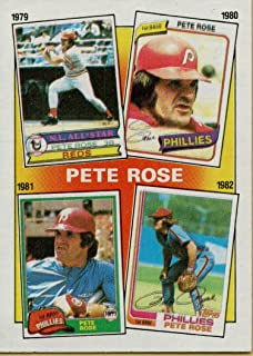 PETE ROSE COLLECTIBLE TRADING CARD - 1986 TOPPS BASEBALL CARD #6 (CINCINNATI REDS - FEATURES YEARS 1979, 1980, 1981 & 1982) FREE SHIPPING