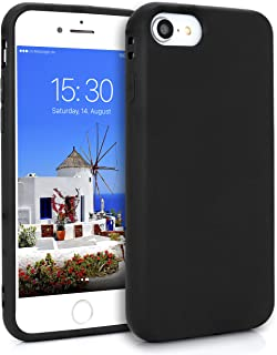 MyGadget Friendly Pocket TPU Case for Apple iPhone 7 Plus / 8 + - Shockproof Anti-Scratch Protection Thin & Flexible Soft Silicone Back Cover - Black