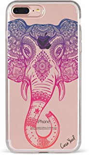 iPhone 8 Plus/iPhone 7 Plus Clear Case, CaseYard, Slim Fit Hybrid Fashionable Clear Case, Made in California, Royal Elephant