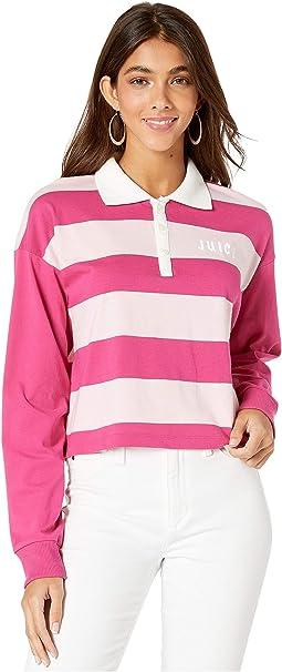 Pixel Pink Rugby Stripe