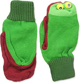 Kidorable Green Frog Soft Acrylic Knit Mittens w/Fun Frog Puppet Mouth and Eyes