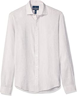 Amazon Brand - BUTTONED DOWN Men's Tailored Fit Casual Linen Cotton Shirt