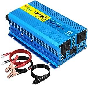 Cantonape 500W Pure Sine Wave Inverter 12V to 110V AC Power Inverter Converter with 3.1A USB Car Adapter and Cigarette Lighter Plug