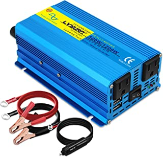 $59 » Sponsored Ad - Cantonape 500W Pure Sine Wave Inverter 12V to 110V AC Power Inverter Converter with 3.1A USB Car Adapter an...