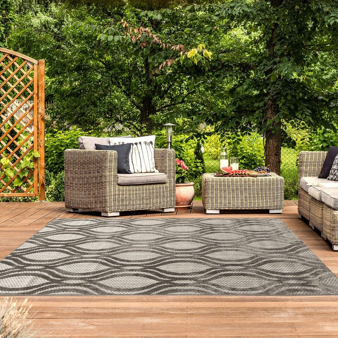 Graphite Grey Taupe Geometric Our shop OFFers the best service Trellis Friendly Rug Pet O Super special price Durable