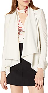 Women's Faux-Leather and Knit Jacket