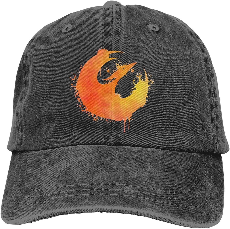Sab-Ine Wren'S Star-Bird Cowboy Hat Cotton Adjustable Washable Retro Baseball Cap