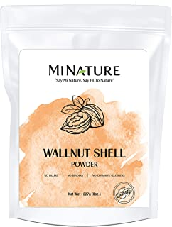 Natural Walnut Shell Powder with Resealable Zip Lock Pack, No Silica and Any Artificial Additives for Homemade Natural Scr...