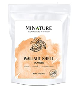 Natural Walnut Shell Powder with Resealable Zip Lock Pack, No Silica and Any Artificial Additives for Homemade Natural Scrub 227g, 1/2lbs, 8oz( packaging may vary )