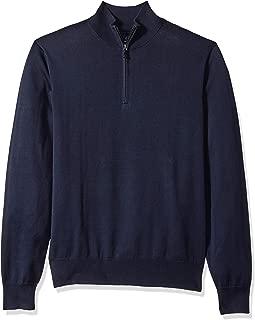 Marchio Amazon - Buttoned Down Supima Cotton Quarter-Zip Sweater Uomo