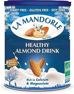 La Mandorle Organic, Gluten Free, Soya Free Almond Milk Powder Omega, 400 gm