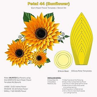 花びら44 ひまわりコンプリート巨大ペーパーフラワーテンプレート/ステンシルキット