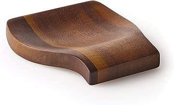 Kamenstein 5186011 Acacia Wood Spoon Rest, 4.75-Inch, Natural