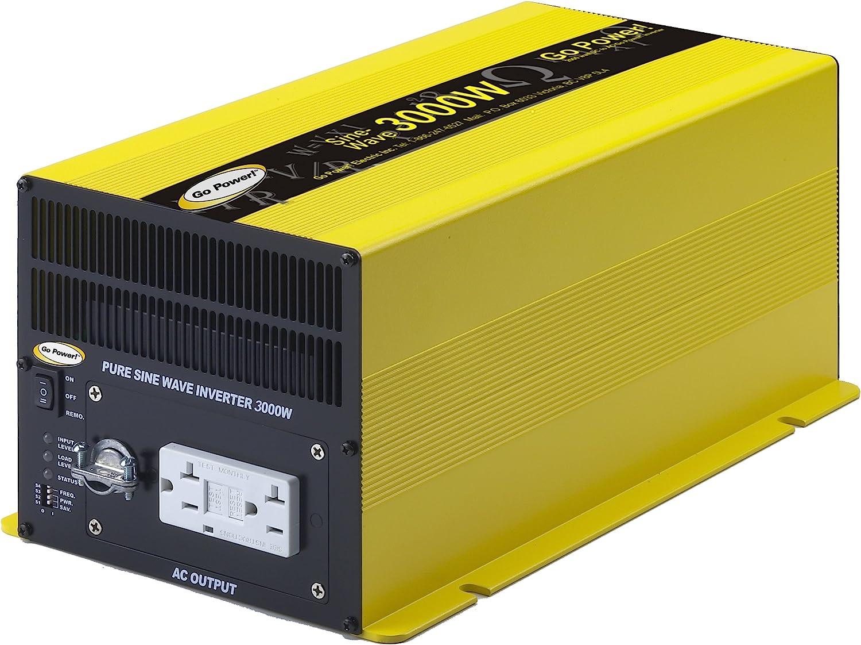 Go Power GP-SW3000-12 3000-Watt Pure Sine Inverter Wave 40% OFF 2021 autumn and winter new Cheap Sale