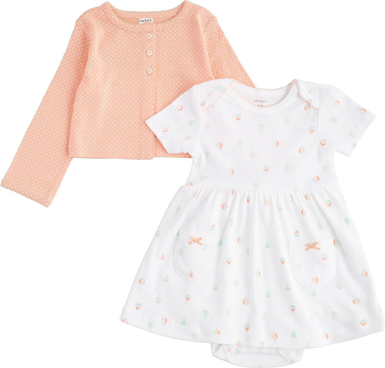 Carter's Baby Girls' 2 Piece trend rank Set White - Excellent Dress