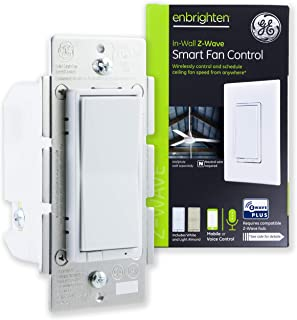 GE Enbrighten Z-Wave Plus Smart Fan Control, Speed ONLY, in-Wall