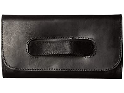 ABLE Mare Handle Clutch (Black) Handbags