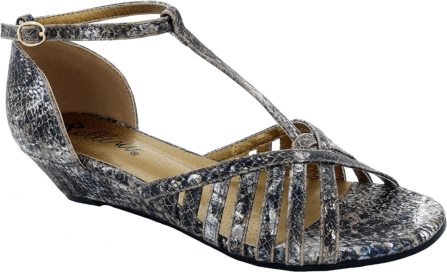 Bellini Milwaukee Mall Women's Lux Faux Leather Sandal Wedge Max 48% OFF