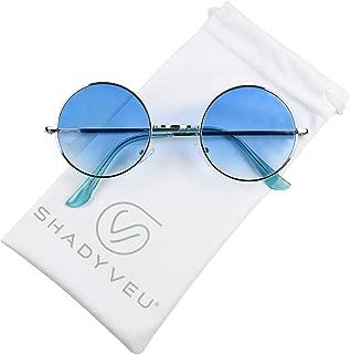 Retro Colorful Tint John Lennon Style Round Groovy Hippie Wire Teashade Sunglasses