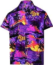 Half yellow purple ulu floral button up shirt men XS-5XL Polynesian shirt Hawaiian shirt men