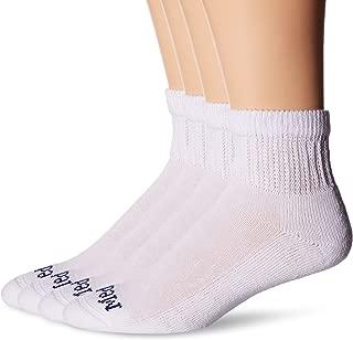 MediPEDS Men's 4 Pack Diabetic Quarter Socks
