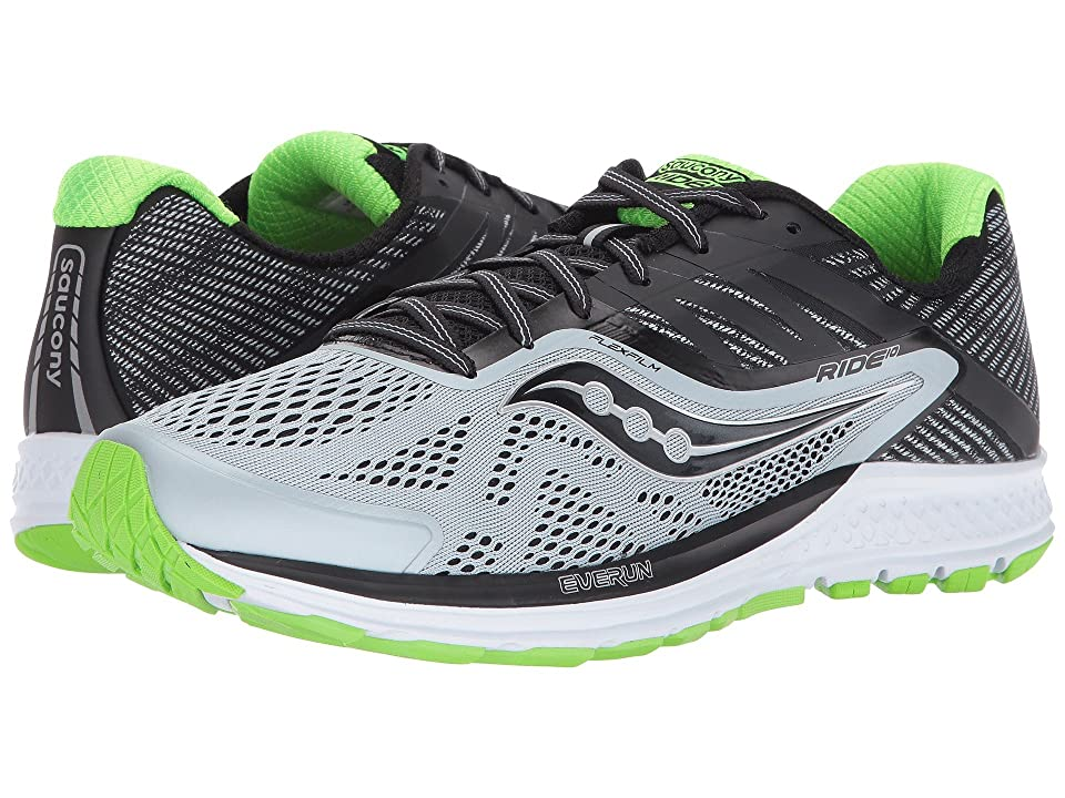 Saucony Ride 10 (Grey/Black/Slime) Men