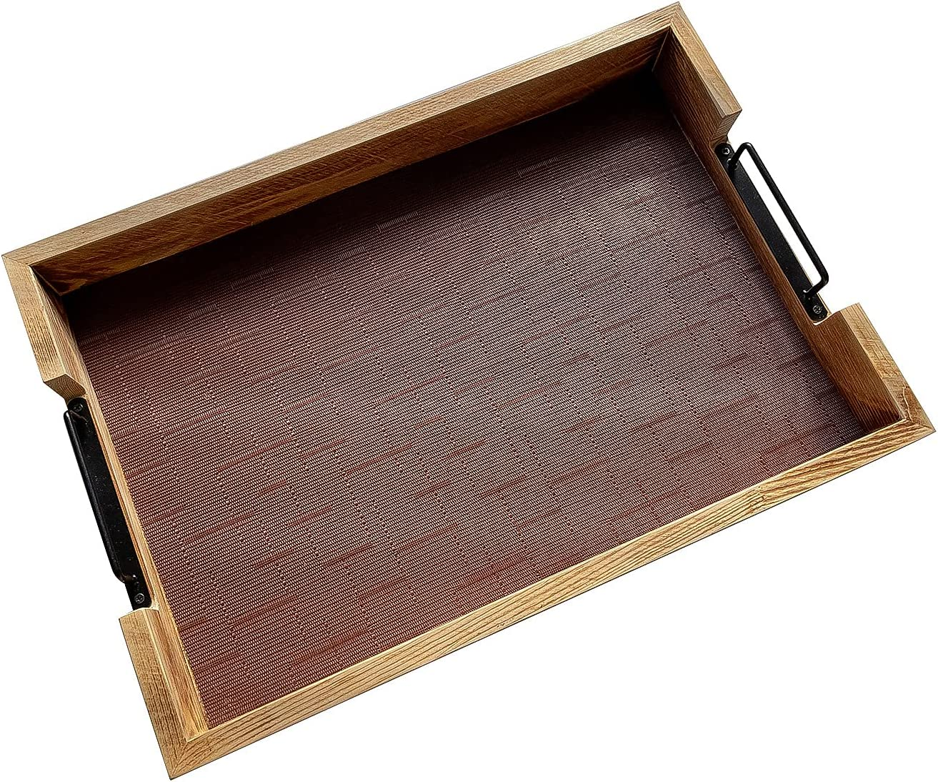 Large Wood Coffee Table Tray Handles Textured with Popular shop is the lowest High order price challenge Serving