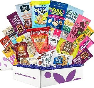 Healthy Vegan Snacks Care Package: Mix of Vegan Cookies, Protein Bars, Chips, Vegan Jerky, Fruit & Nut Snacks, Great Vegan...
