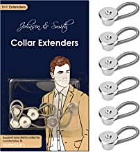 Johnson & Smith Collar Extenders / Neck Extender / Wonder Button for 1/2 Size Expansion of Men Dress Shirts, 5 +1 Pack, 3/8