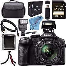 Panasonic Lumix DMC-FZ300 DMC-FZ300K Digital Camera + DMW-BLC12 Lithium Ion Battery + Sony 32GB SDHC Card + Case + Tripod + Micro HDMI Cable + Memory Card Wallet + Flash Bundle
