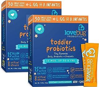 Sponsored Ad - Lovebug Probiotic and Prebiotic for Kids, 15 Billion CFU, for Children 12 Months to 4 Years, Best Children'...