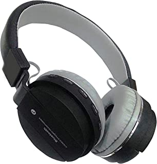 Prithvi Wireless/Bluetooth/Redio/Bass/Headphone with FM and SD Card Slot/with Music and Calling Controls (Colour May Vary)