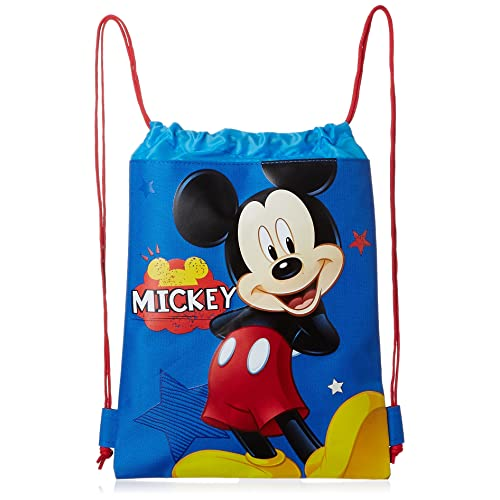 Blue Mickey Mouse Drawstring Backpack - Large Drawsting Bag bba4f684f6aad
