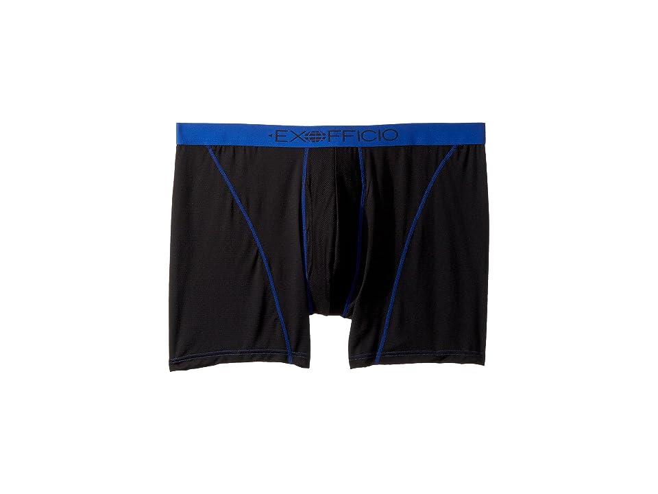 ExOfficio Give-N-Go(r) Sport 6 Boxer Brief (Black/Royal) Men