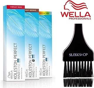 Wella KOLESTON Perfect INNOSENSE Permanent Creme Hair Color (with Sleek Tint Brush) (5/0 - Light Brown)