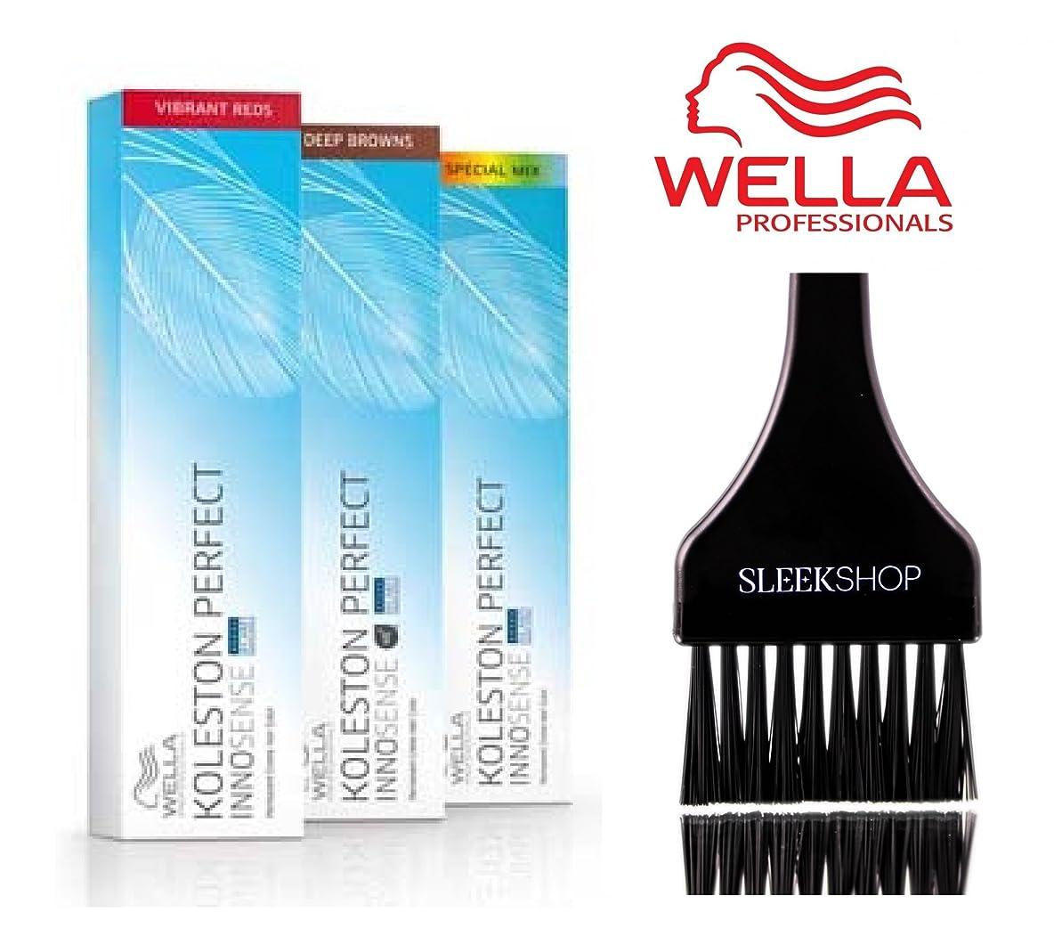 包帯歯痛保証Wella (なめらかな色合いブラシ付き)KOLESTONパーフェクトINNOSENSE永久クリームヘアカラー 81分の9非常に軽いブロンド/パールアッシュ