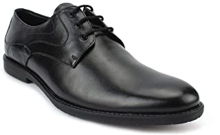 AvantHier Men's Glossy Look Light Weight Expensive Genuine Leather Formal Shoes for Boys