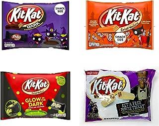Halloween Kit Kats Chocolate Candy Variety Pack of 4 Bags - White Kit Kats, Dark Kit Kats, Orange Kit Kats, Glow In The Dark Kit Kats - Bulk Chocolate In Individually Wrapped Snack Size