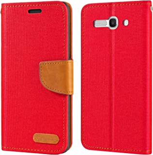 Alcatel One Touch Pop C9 7047D Case, Oxford Leather Wallet Case with Soft TPU Back Cover Magnet Flip Case for Alcatel One ...