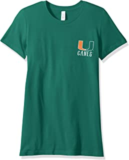 NCAA Miami Hurricanes Women's Double Pattern Scroll Favorite Short sleeve T-Shirt, X-Large,Kelly