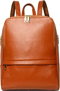 Hot Style Women Real Genuine Leather Backpack Fashion Bag (Dark Brown)