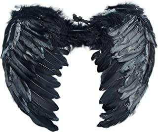 Best black feather wings large Reviews
