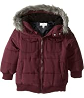 Pumpkin Patch Kids - Fur Trim Puffer Jacket (Infant/Toddler/Little Kids)